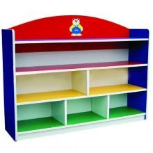 6 Level Multi-Coloured Large Storage Shelf