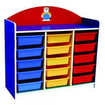 Multi-Coloured 15 Trays Manipulatives Storage Unit