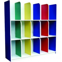 Multi-Coloured Bag Cubby Shelf