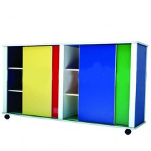 Multi-Coloured Large Movable Storage Cabinet