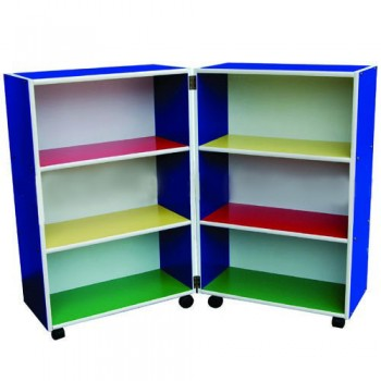 Multi-Coloured Mobile Foldable Bookshelf