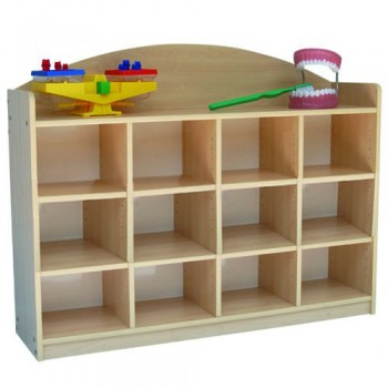 12 Level Adjustable Storage Shelf (Wood)