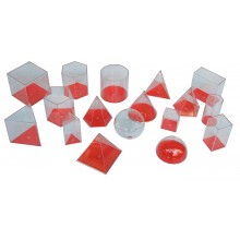 Giant Transparent Geometric Shapes (17 pcs)