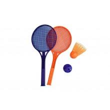 Tennis Racket(2) wt Giant Shuttercock + PE.Ball (S)