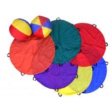 Throw & Catch Parachute Set (2 ball) (6pcs)