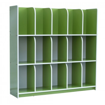 Economy Bag Cubby Shelf - Green