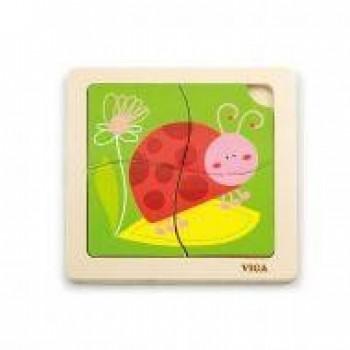 Handy Flat Puzzle - Ladybird