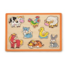 Flat Puzzle - Farm Animals