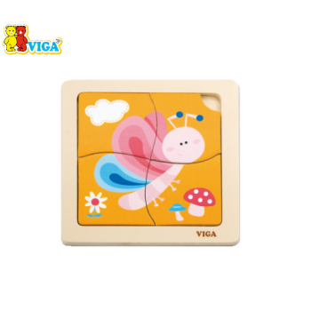 VIGA Handy Flat Puzzle - Butterfly