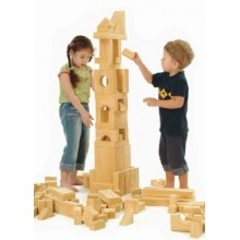 WePlay Softwood Blocks (8cm) - 56 pcs