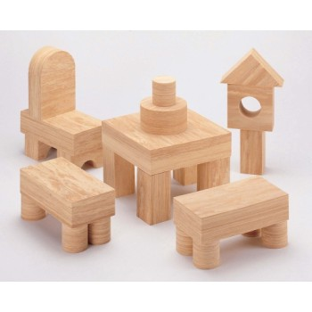 WePlay Softwood Blocks - 68 pcs