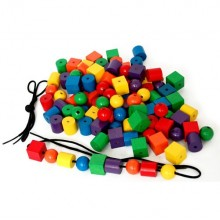Wooden Beads and Laces (108pcs) (C50472)