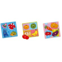 Wooden Flat Puzzle (Set of 3)