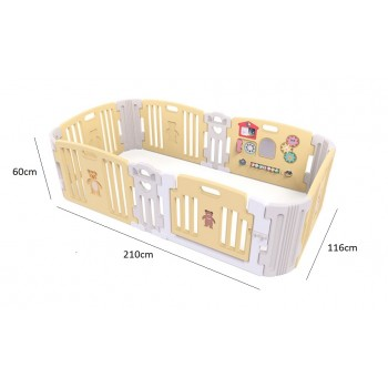 Haenim (Korea) Signature Baby Room With Activity Center (Yellow) With Color Foldable Play Mat
