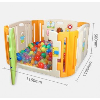 Haenim (Korea) Baby Play Yard 4 Panel with Activity (Beige)